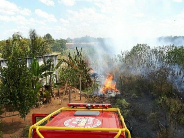 Incêndio é consequência da seca, diz Corpo de Bombeiros (Foto: Carlos Mont Serrate/Rota Policial News)