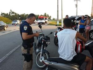 PRF intensificou fiscalização nas rodovias federais (Foto: Divulgação/PRF)