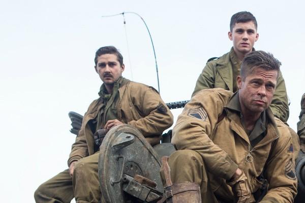 Shia LaBeouf, Logan Lerman e Brad Pitt  (Foto: Divulgação)