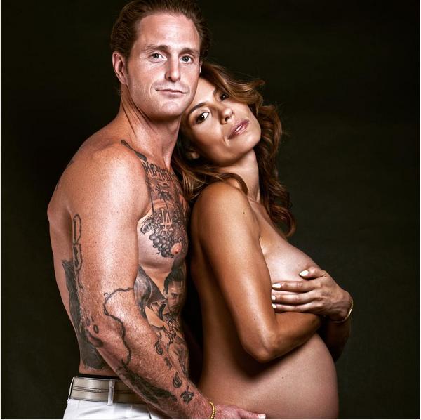 Cameron Douglas com Viviane Thibes quando ela ainda estava grávida (Foto: Instagram)