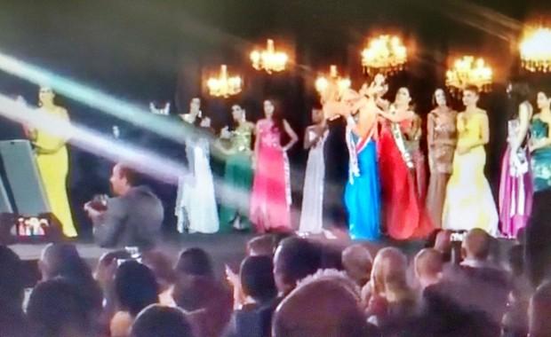Barraco no concurso Miss Amazonas 2015 (Foto: Reprodução)