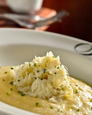 Bacalhau mantecato com polenta cremosa  (Foto: Tadeu Brunelli )