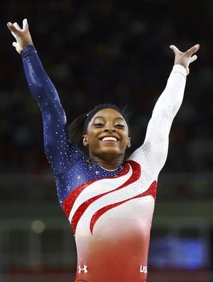 Simone Biles ginástica Artística EUA Olimpíada Rio 2016 (Foto: Mike Blake/Reuters)