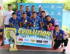 Evolution, campeão da Copa Rede Amazônica de Futsal, em RO (Foto: Angelina Ayres)