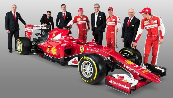 Com novo carro, Ferrari quer resgatar competitividade da equipe nas pistas da Fórmula 1 (Foto: Divulgação)