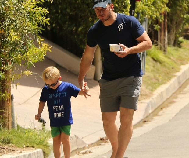 Chris Pratt e Jack (Foto: WAGO / BACKGRID)