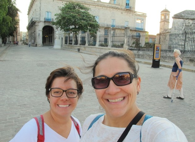 Fernanda Moura e Taciana Mello em Cuba (Foto: The Girls on the Road)