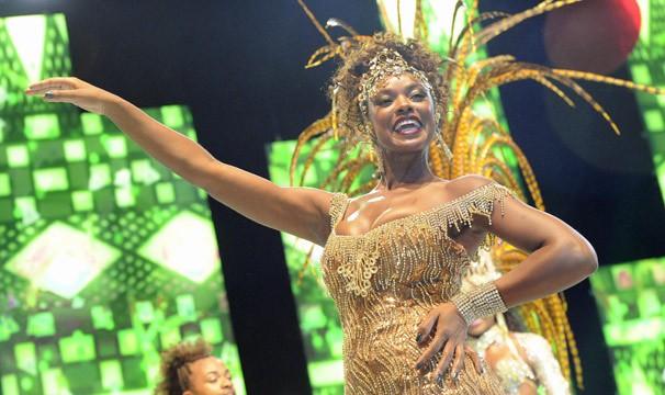 Cris Vianna é a rainha da Imperatriz Leopoldinense, do Rio (Foto: TV Globo/Renato Rocha Miranda)