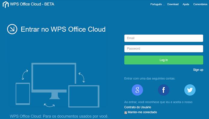 WPS Office tem integração com a nuvem superior àquela do LibreOffice (Foto: Reprodução/Filipe Garrett)
