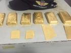 Barras de ouro avaliadas em R$ 800 mil são apreendidas em Goiás, diz PM