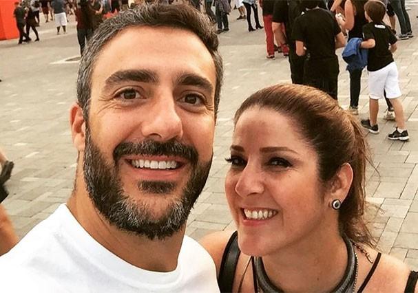 O casal Christiane Pelajo e Fernando (Foto: Reprodução/Instagram)