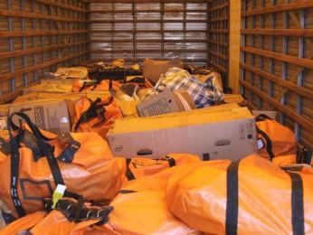 Em abril, PF de Foz do Iguaçu destruiu cerca de 5,7 toneladas de drogas apreendidas na região (Foto: Polícia Federal / Divulgação)