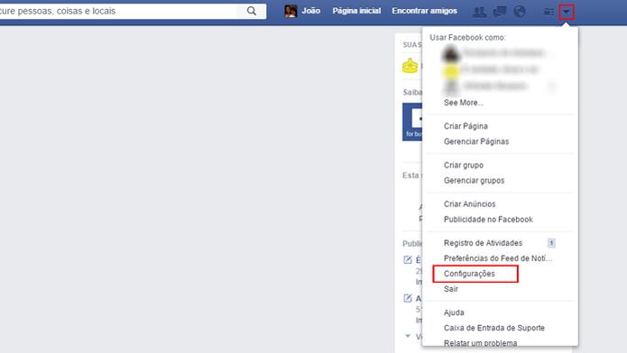 Mudança de idioma pode ser feita diretamente nas configurações do Facebook (Foto: Reprodução/João Kurtz)