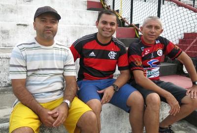Almir Ferreira, Idalécio Nogueira e Petrônio Paulino, Flamengo x Bangu feminino (Foto: Jessica Mello / GloboEsporte.com)