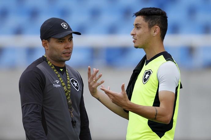 Jair Ventura e Diogo Barbosa Botafogo (Foto: Vitor Silva / SSpress / Botafogo)