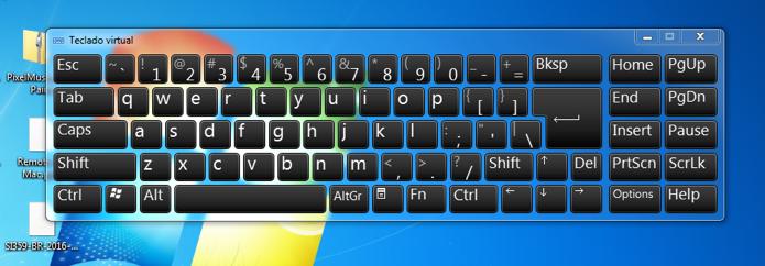 Veja como acessar o teclado virtual do Windows 7 (Foto: Reprodução/André Sugai)