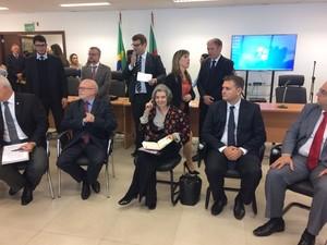 Cármen Lúcia participou de audiência em Porto Alegre (Foto: Igor Grossmann/G1)