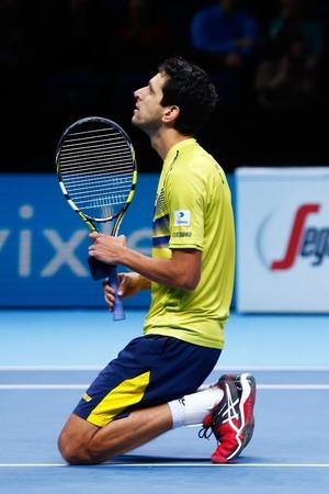 Marcelo Melo comemora vitória no ATP Finals (Foto: Getty Images)