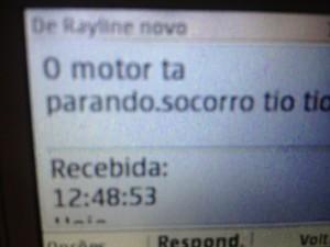 Mensagem 1 desaparecida (Foto: Luana Leão/G1)