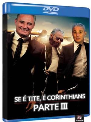 Com Tite em capa de DVD fictício, Corinthians volta a provocar o Inter