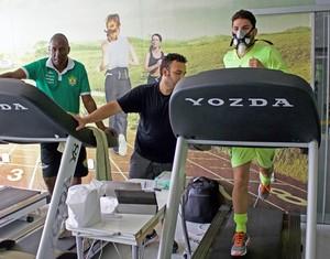 Cuiabá, testes físicos (Foto: Assessoria/Cuiabá Esporte Clube)