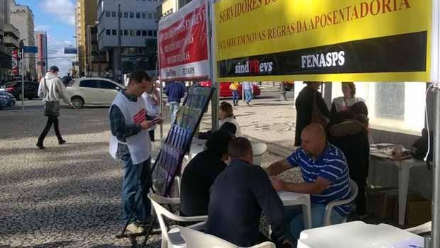 Servidores do INSS pararam em 7 de julho no Paraná  (Foto: Divulgação/ Sindprevs-P)