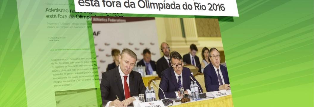 Federação internacional de atletismo mantém decisão de punir a Rússia por doping