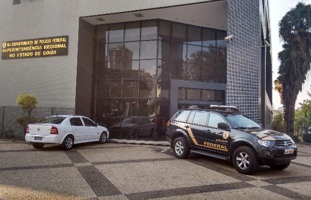Sede da Polícia Federal em Goiânia, Goiás (Foto: Sílvio Túlio/G1)