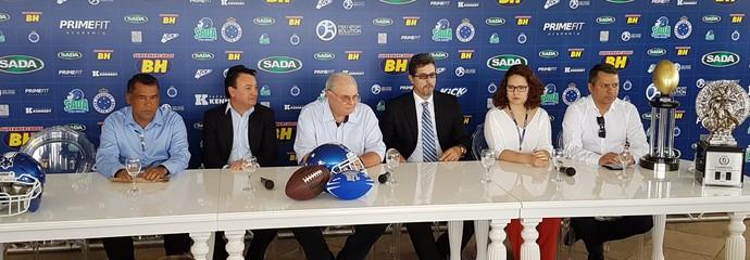 Lançamento do time de futebol americano do Cruzeiro (Foto: Marco Antônio Astoni)