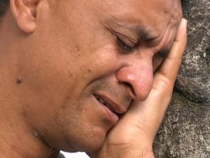 Pai da jovem morta, o operador de máquinas Dorisvaldo Gomes dos Santos (Foto: Reprodução/ TV Gazeta)