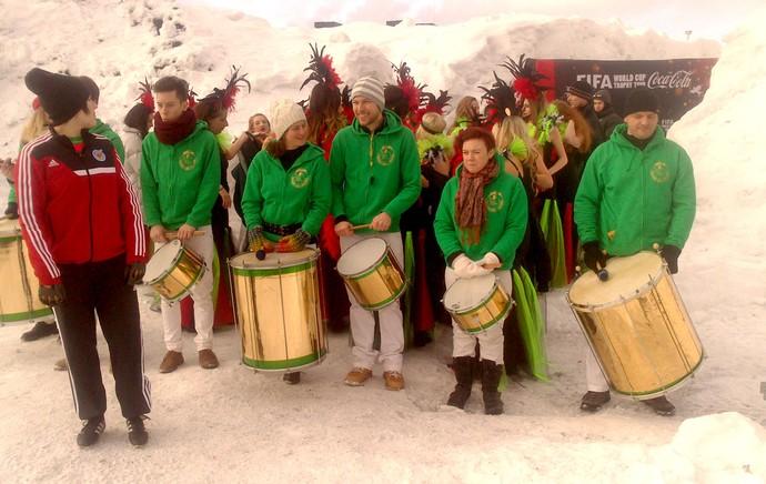 Bateria sueca de samba - tour da taça suécia (Foto: Felipe Schmidt)