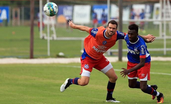 Bahia; treino; Fazendão; Lucas Fonseca; Allano (Foto: Felipe Oliveira / Divulgação / EC Bahia)