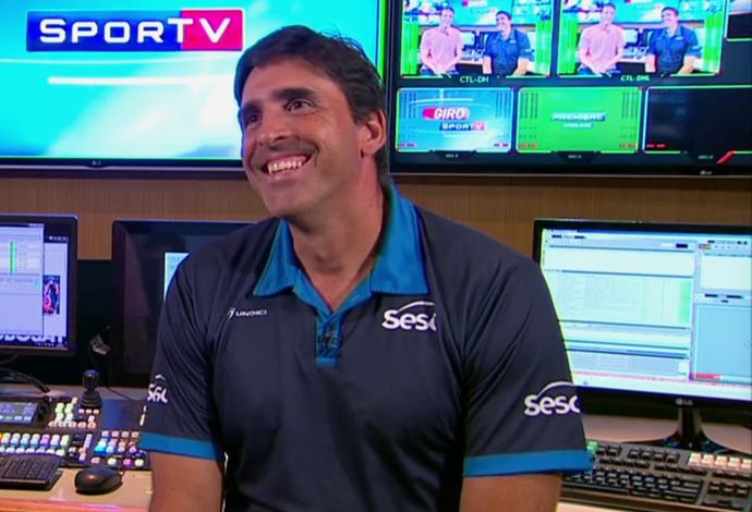 Giovane Gávio, técnico da seleção brasileira sub-23 de vôlei (Foto: Reprodução SporTV)