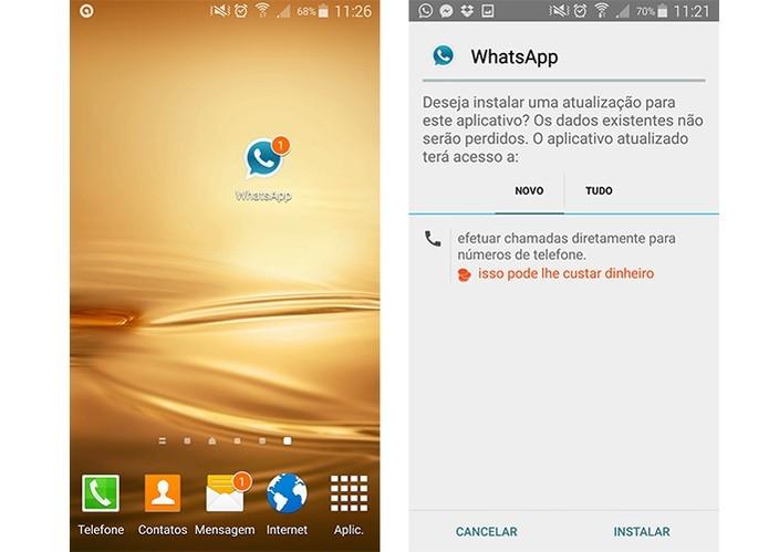 Versão também em azul do app não oficial WhatsApp Plus (Foto: Reprodução/Barbara Mannara)