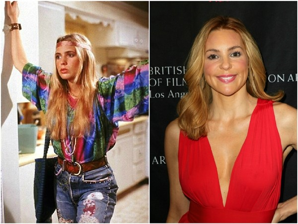 Olivia d'Abo em 1989 e 2013 (Foto: Divulgação/Getty Images)