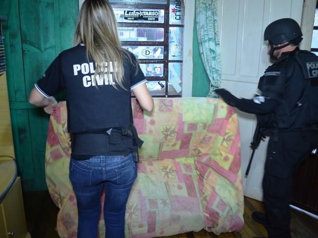 Operação Fora da Lei, Caxias do Sul, quadrilha, roubo, bancos, cordões humanos (Foto: Divulgação/Polícia Civil)