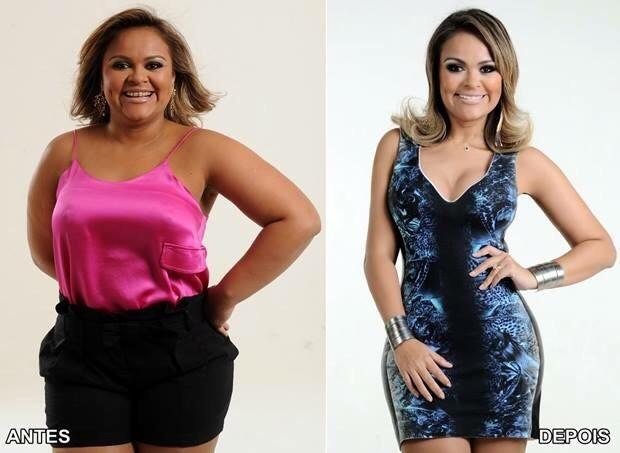 Samyra Show: antes e depois (Foto: Divulgação)