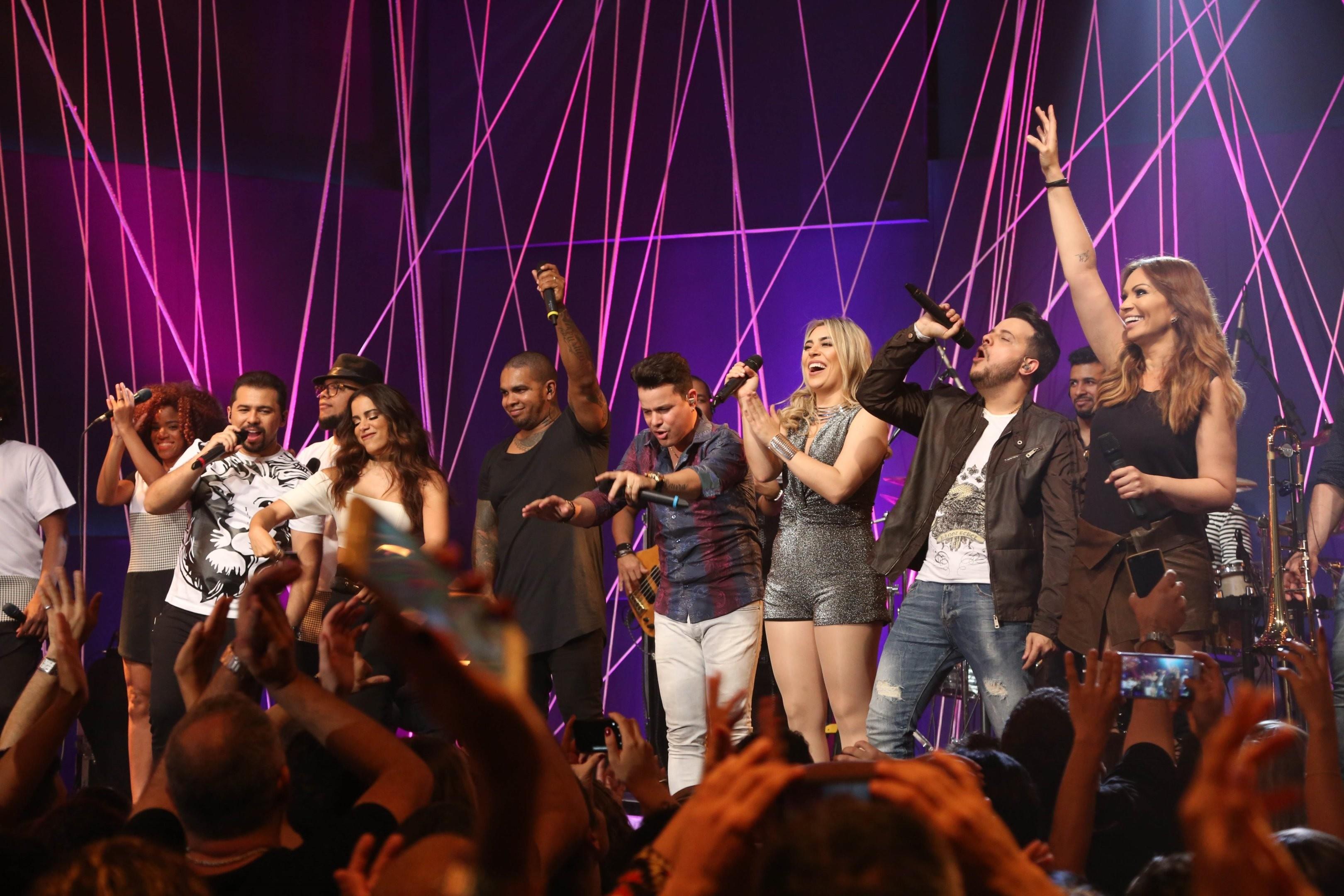Avies do Forr, Joo Neto & Frederico, Naiara Azevedo, Rodriguinho e Anitta fizeram a festa no Msica Boa Ao Vivo (Foto: Multishow)