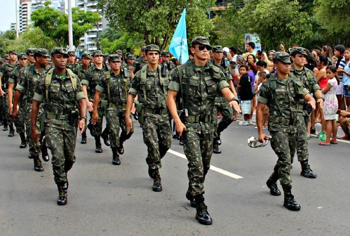 Exército participou do desfile do Dia da Independência