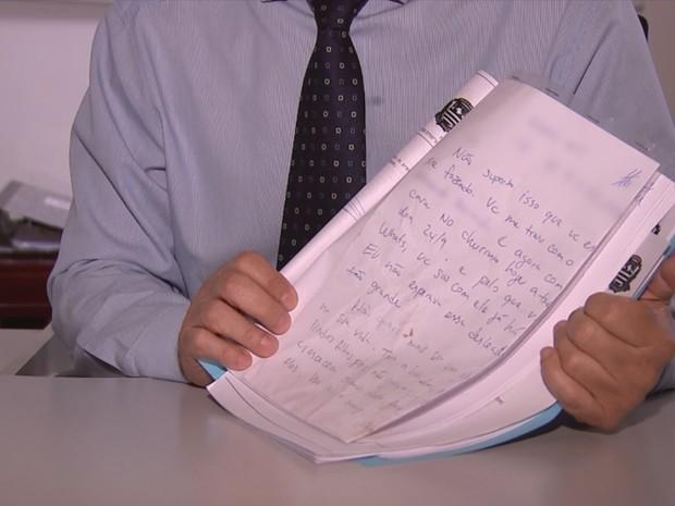 Homem deixou carta explicando motivação do crime (Foto: Reprodução/TV TEM)