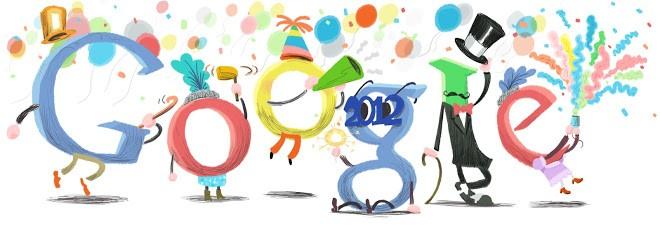 Doodle do Google para o Ano Novo de 2011 para 2012 (Foto: Reprodução/Google)