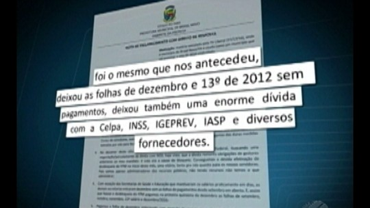 Prefeitura de Brasil Novo se pronuncia sobre endividamento do município