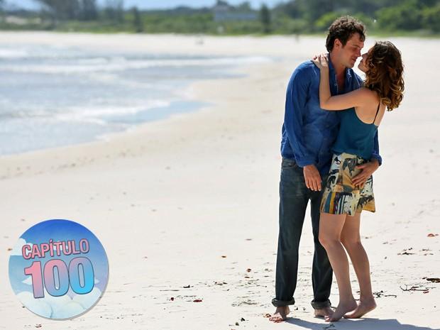 O casal de protagonistas vai suar para ficar junto até o final (Foto: Isabella Pinheiro/ Gshow)