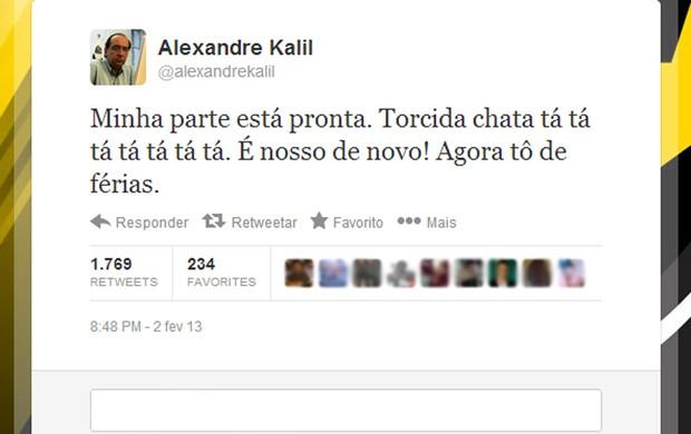 Alexandre Kalil twitter Tardelli (Foto: Reprodução / Twitter)