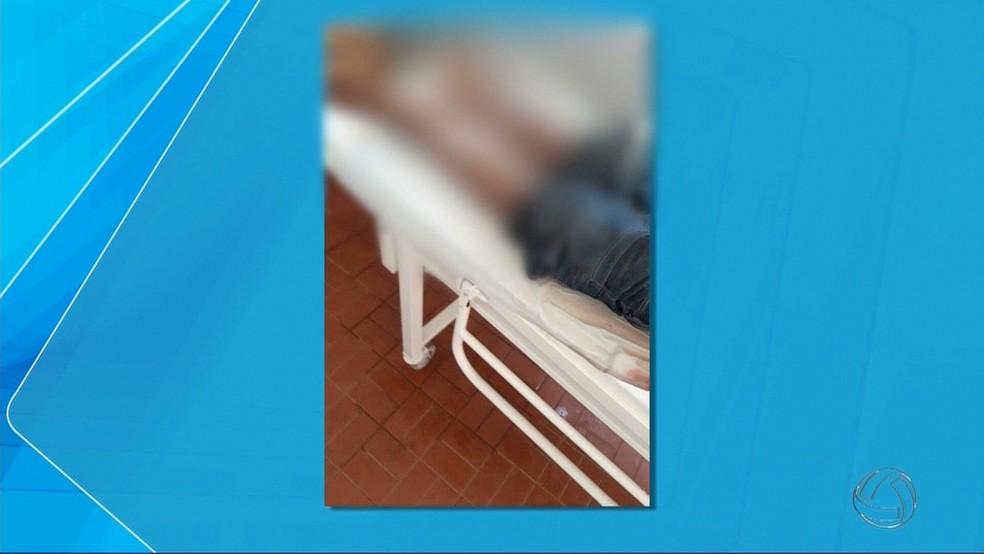 Maca com corpo em hospital de Amambai (Foto: Reprodução/ TV Morena)