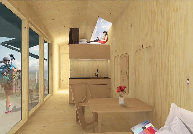 Projeto interno da Cabin Spacey (Foto: Divulgação )