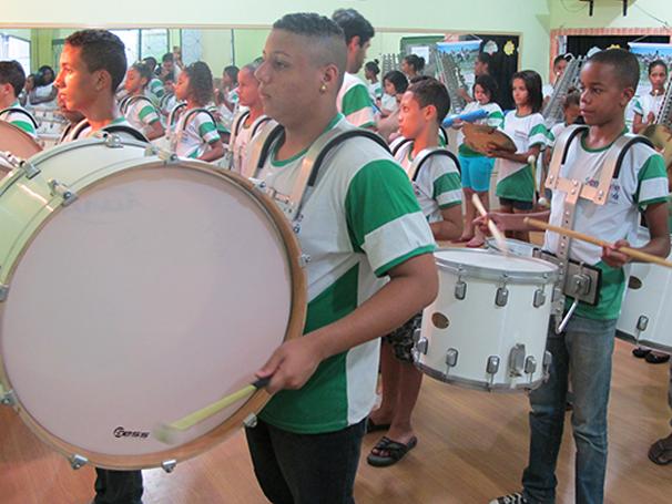 30 alunos compõem a Fanfarra Musical (Foto: Divulgação/ Mariana Cabral)