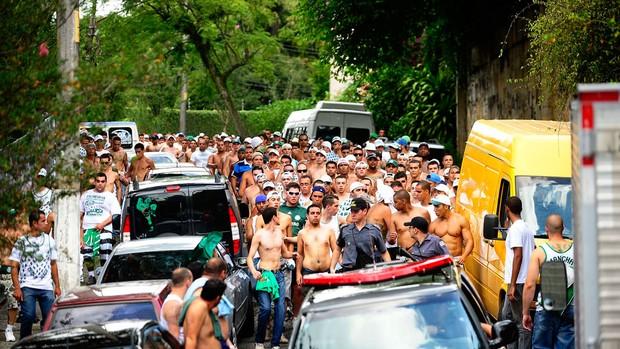 Torcida Corinthians x Palmeiras (Foto: Marcos Ribolli / Globoesporte.com)