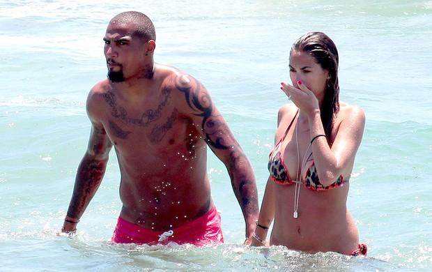 Prince boateng férias em Ibiza (Foto: Splash News)