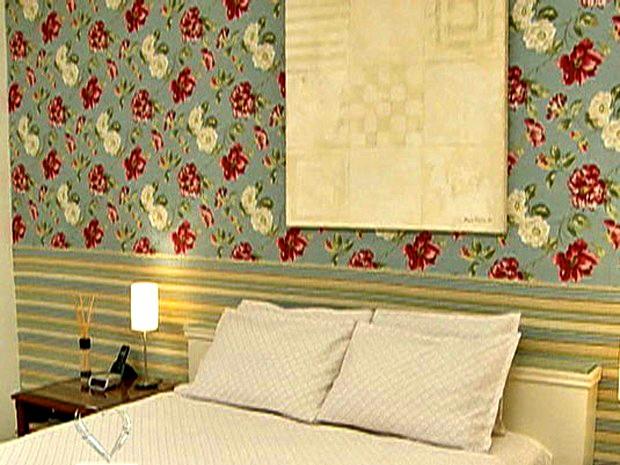 Com poucos materiais, dê repaginada em casa com tecido na parede (Foto: Mais Você / TV Globo)